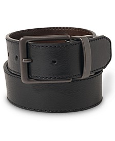Reversible Stitched Casual Leather Belt