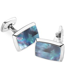 M-Clip Mother of Pearl Rectangle Cufflinks