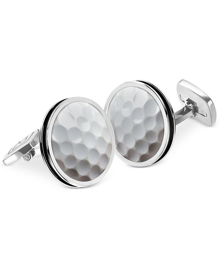 M-Clip - Bordered Round Golf Ball Cufflinks