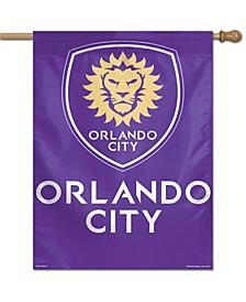 "Multi Orlando City Sc 28"" x 40"" Single-Sided Vertical Banner"