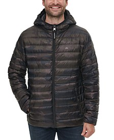 Men's Hooded Packable Down Jacket, Created for Macy's