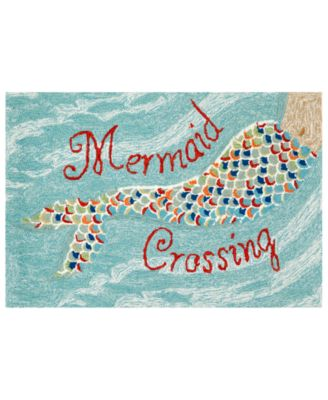 "Liora Manne Front Porch Indoor/Outdoor Mermaid Crossing 2'6"" x 4' Area Rug"