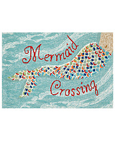 Liora Manne Front Porch Indoor/Outdoor Mermaid Crossing Area Rug