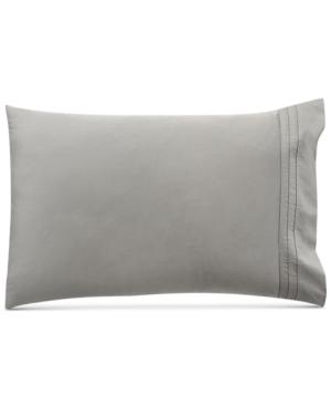 Donna Karan Home Silver Pair of King Pillowcases Bedding