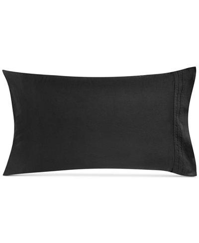 CLOSEOUT! Donna Karan Home Pair of Ebony Standard Pillowcases