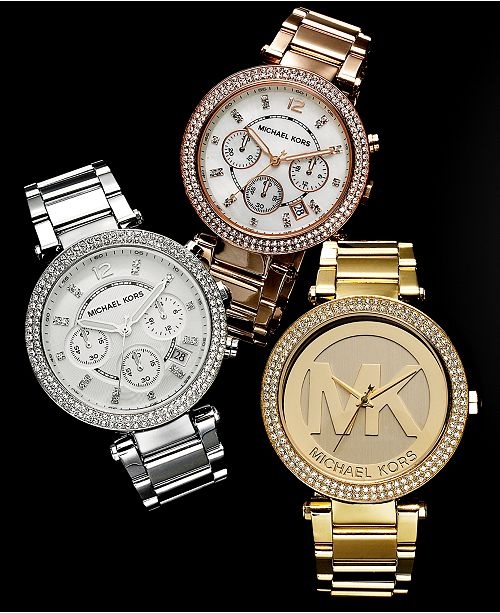 ff125f169b Michael Kors Customer Favorites Parker Watches   Reviews - Watches ...