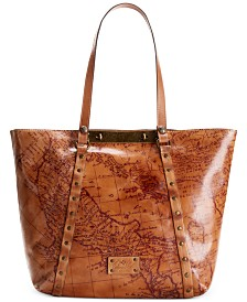 Patricia Nash Benvenuto Smooth Leather Tote