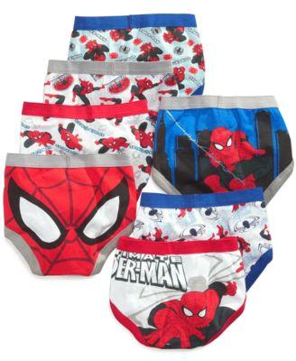 Spider-Man Toddler Boys' 7-Pack Cotton Briefs - Underwear & Socks ...