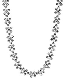 Anne Klein Silver-Tone Glass Crystal Collar Necklace