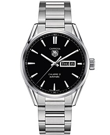 Men's Swiss Automatic Carrera Calibre 5 Day-Date Stainless Steel Bracelet Watch 41mm