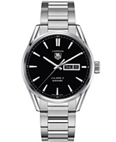 395fc8fcbd7 TAG Heuer Men s Swiss Automatic Carrera Calibre 5 Day-Date Stainless Steel  Bracelet Watch 41mm