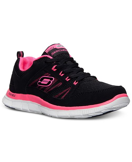 9d308df54277 ... Skechers Women s Flex Appeal-Spring Fever Memory Foam Running Sneakers  from Finish ...
