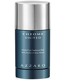 Azzaro Men's CHROME UNITED Deodorant Stick, 2.7 oz