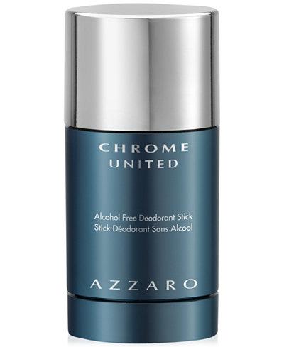 Azzaro Men's CHROME UNITED Deodorant Stick, 2.7 oz