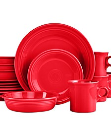 16-Piece Scarlet Set, Service for 4