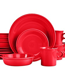 Fiesta 16-Piece Scarlet Set, Service for 4