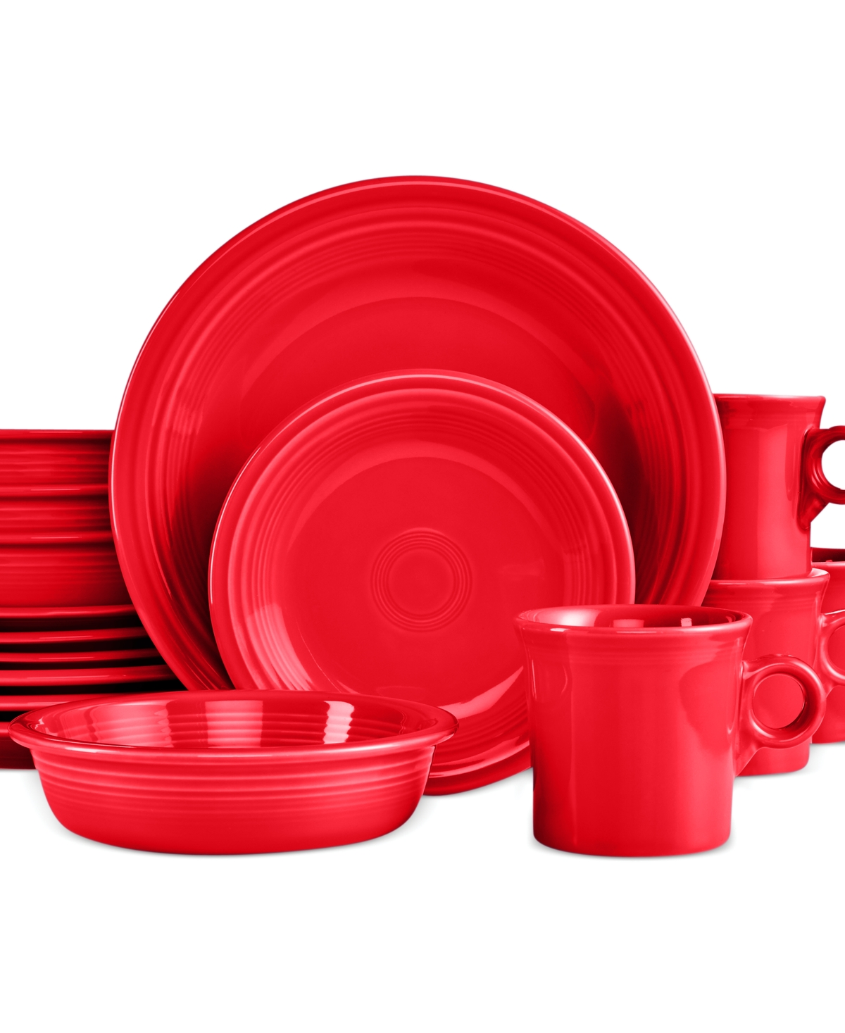 16 pc place setting scarlet