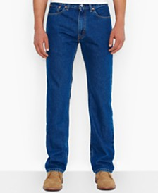 Levi's Big and Tall 505 Original-Fit Dark Jeans