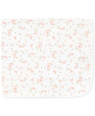 Baby Girls Vintage Rose Blanket