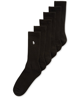 Classic Crew Socks 6 Pairs by Polo Ralph Lauren