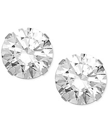 Swarovski Zirconia (2 ct. t.w.) Round Stud Earrings in 14k White Gold