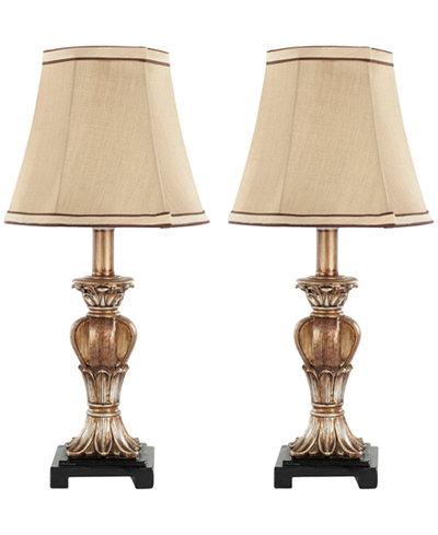 Safavieh Set of 2 Gabriella Mini Urn Table Lamps