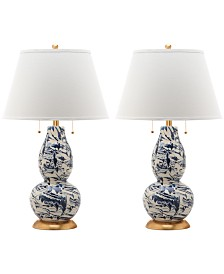 Safavieh Set of 2 Color Swirls Glass Table Lamp