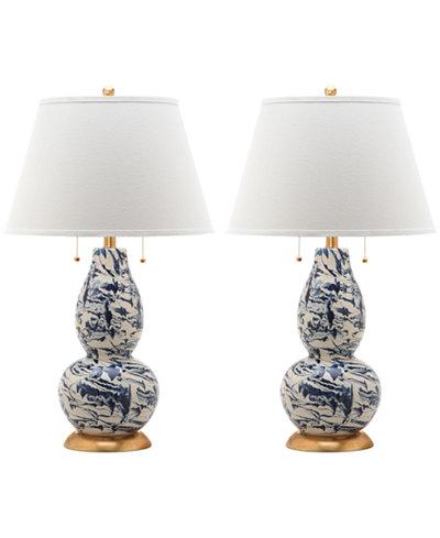 Safavieh Set of 2 Color Swirls Glass Table Lamp