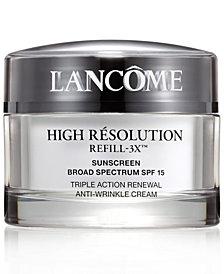 Lancôme High Résolution Refill-3X Anti-Wrinkle Moisturizer Cream, 2.6 oz