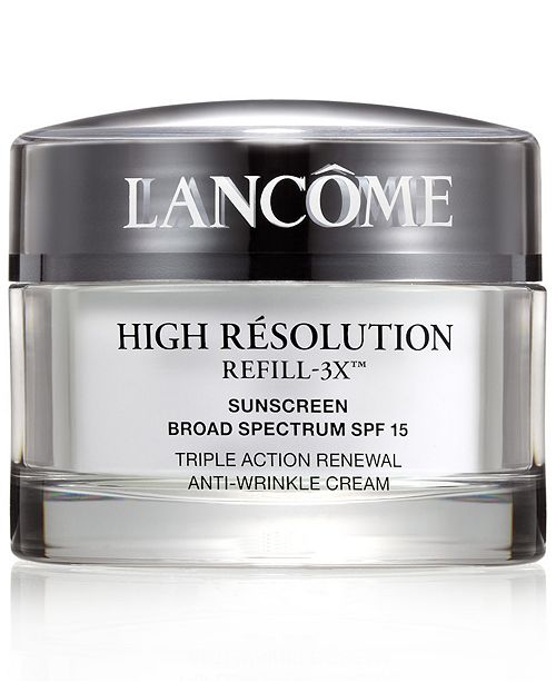 Lancome High Résolution Refill-3X Anti-Wrinkle Moisturizer Cream, 2.6 oz