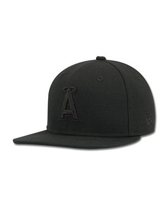 New Era Kids' Los Angeles Angels of Anaheim MLB Black on Black Fashion 59FIFTY Cap