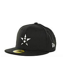 New Era Kids' Houston Astros MLB Black and White Fashion 59FIFTY Cap