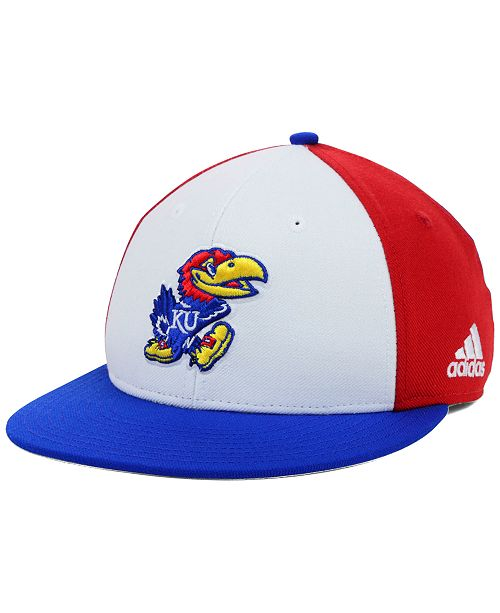 90da23e9541 adidas Kansas Jayhawks NCAA On-Field Baseball Cap - Sports Fan Shop ...