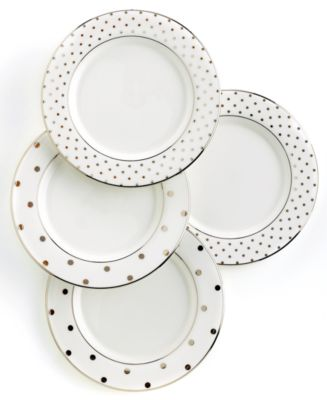 Set Of 4 Larabee Road Polka Dot Tidbit Plates