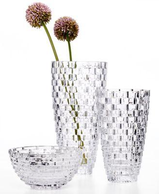 Mikasa Palazzo Crystal Vase 12 Bowls Vases Macys