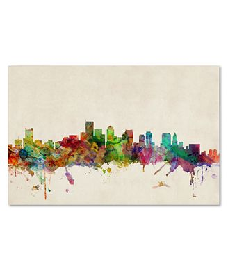 Boston Wall Art boston skyline' canvas printmichael tompsett - wall art - macy's