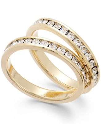 Image of Charter Club Glass Stone Ring Duo