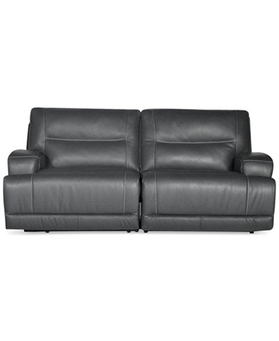 Caruso Leather 2 Piece Power Motion Sectional Sofa
