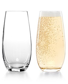 Set of 2 O Stemless Champagne Glasses