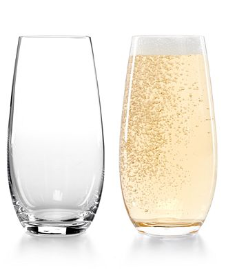Riedel Set Of 2 O Stemless Champagne Glasses