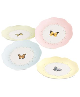"""Butterfly Meadow"" Dessert Plates, Set of 4"