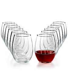 Martha Stewart Essentials 12-Pc. Stemless Wine Glasses Set, Created for Macy's