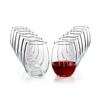 12-Piece Martha Stewart Essentials Stemless Wine Glasses Set