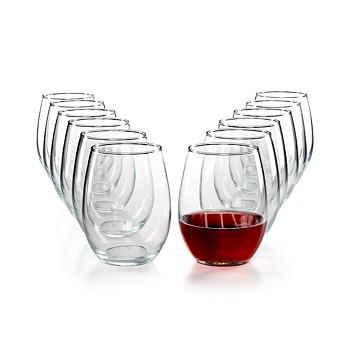 12-Piece Martha Stewart Essentials Stemless Wine Glasses Set