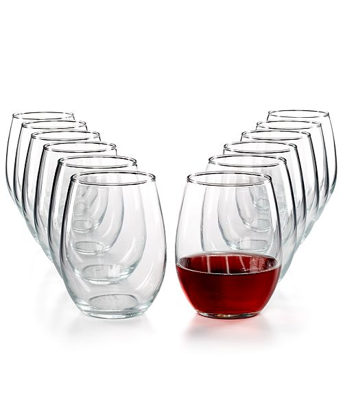 Martha Stewart Collection 12-Pc. Stemless Wine Glasses Set, Created for Macy's