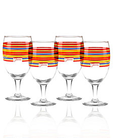 Fiesta Scarlet Stripe Set of 4 Goblets