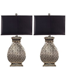 Safavieh Set of 2 Malaga Silver Table Lamps