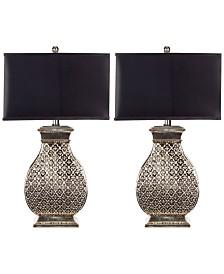 Set of 2 Malaga Silver Table Lamps