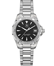 TAG Heuer Women's Swiss Aquaracer Stainless Steel Bracelet Watch 32mm