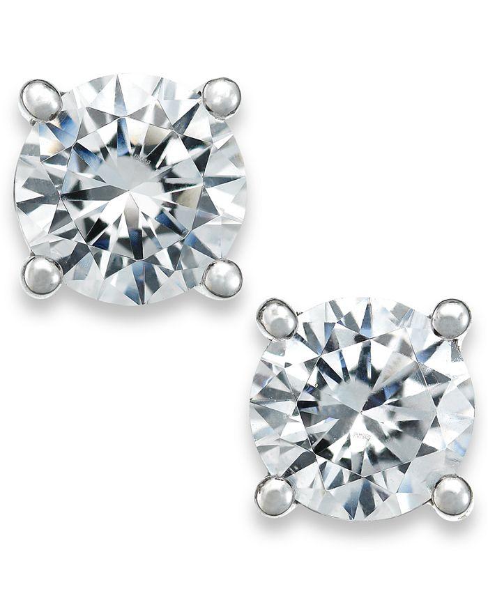 X3 - Certified Diamond Stud Earrings in 18k White Gold (1 ct. t.w.)